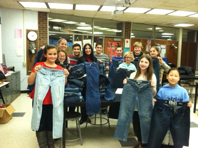 Jeans Collected for Teens