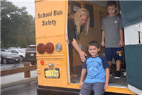 """Safety Sally"" drives an important message photo"
