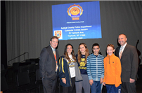 Students learn safe social media habits at Prodell Middle School photo