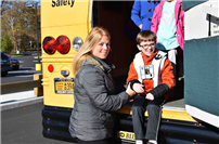 Focusing on bus safety at Miller Avenue School photo