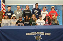 Shoreham-Wading River High School seniors commit to college sports photo