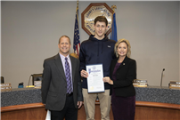 Senior Honored for Swimming Feats photo